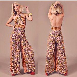 RARE 70s style jumpsuit. Nine Lives Bazaar NWOT